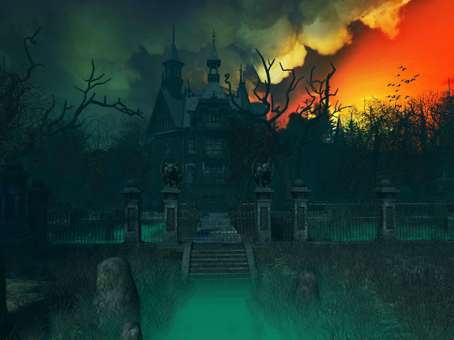 3d Haunted House Wallpaper 1 640x480