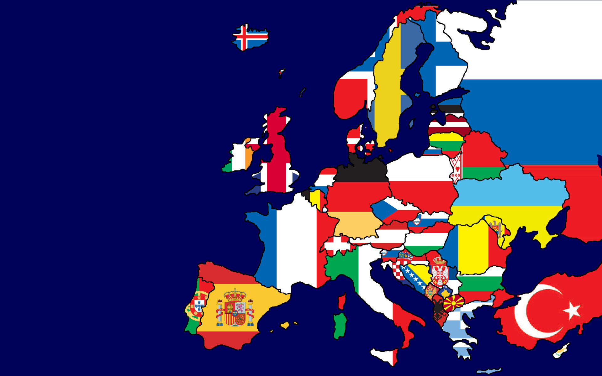 Flags of Europe Map [1920x1200] by me wallpapers 1920x1200