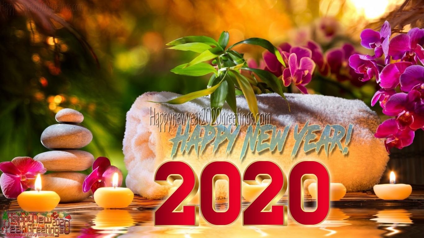 Happy New Year 2020 3D Images Download   2020 New Year 3D HD 1366x768