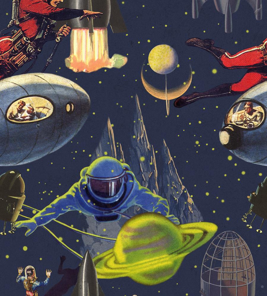 Intergalactic Wallpaper by Mind The Gap Jane Clayton 900x1000