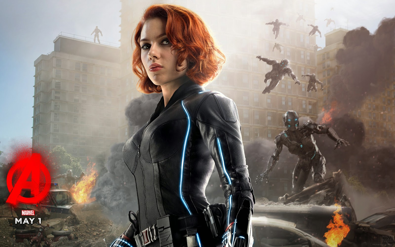 Black Widow Avenger Age of Ultron Wallpaper 1600x1000