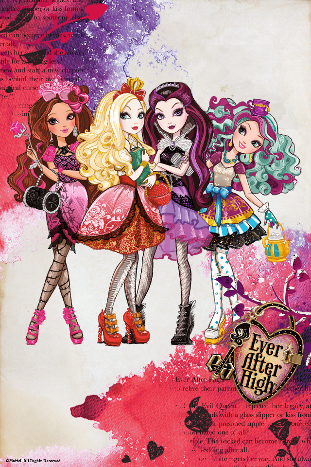 Ever After High Android Wallpaper by Sofea139 640x960