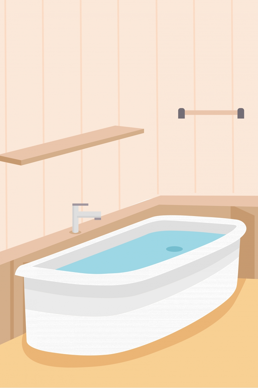 Bathtub Bathroom Cartoon Background Bathtub Bathroom Cupboard 960x1440