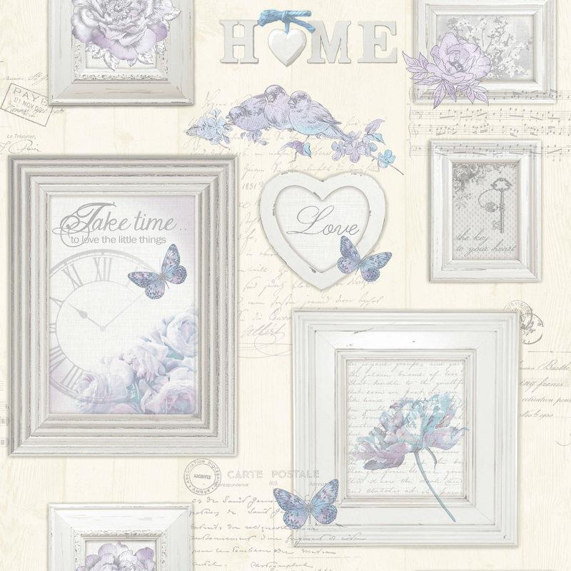 Illustration Graham Brown Vintage Frames Wallpaper   CreamBlue 800x800