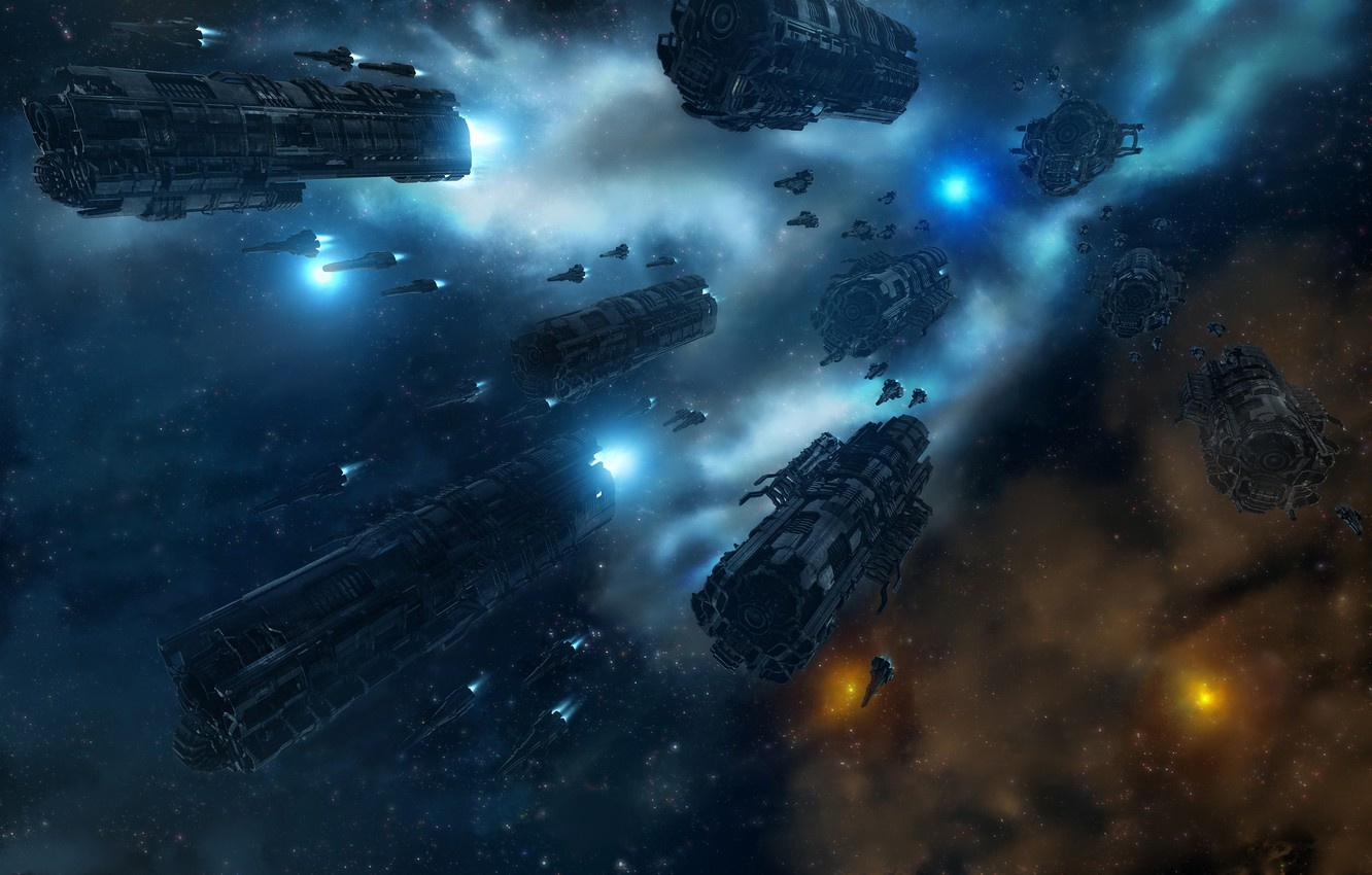 Wallpaper space stars ships Navy combat Armada images for 1332x850