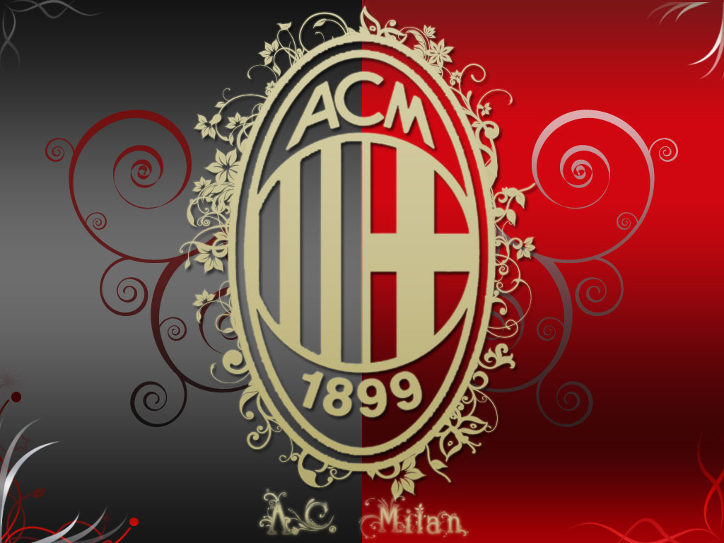 AC Milan Artistic Logo HD Wallpaper for Desktop and iPad 1024x768