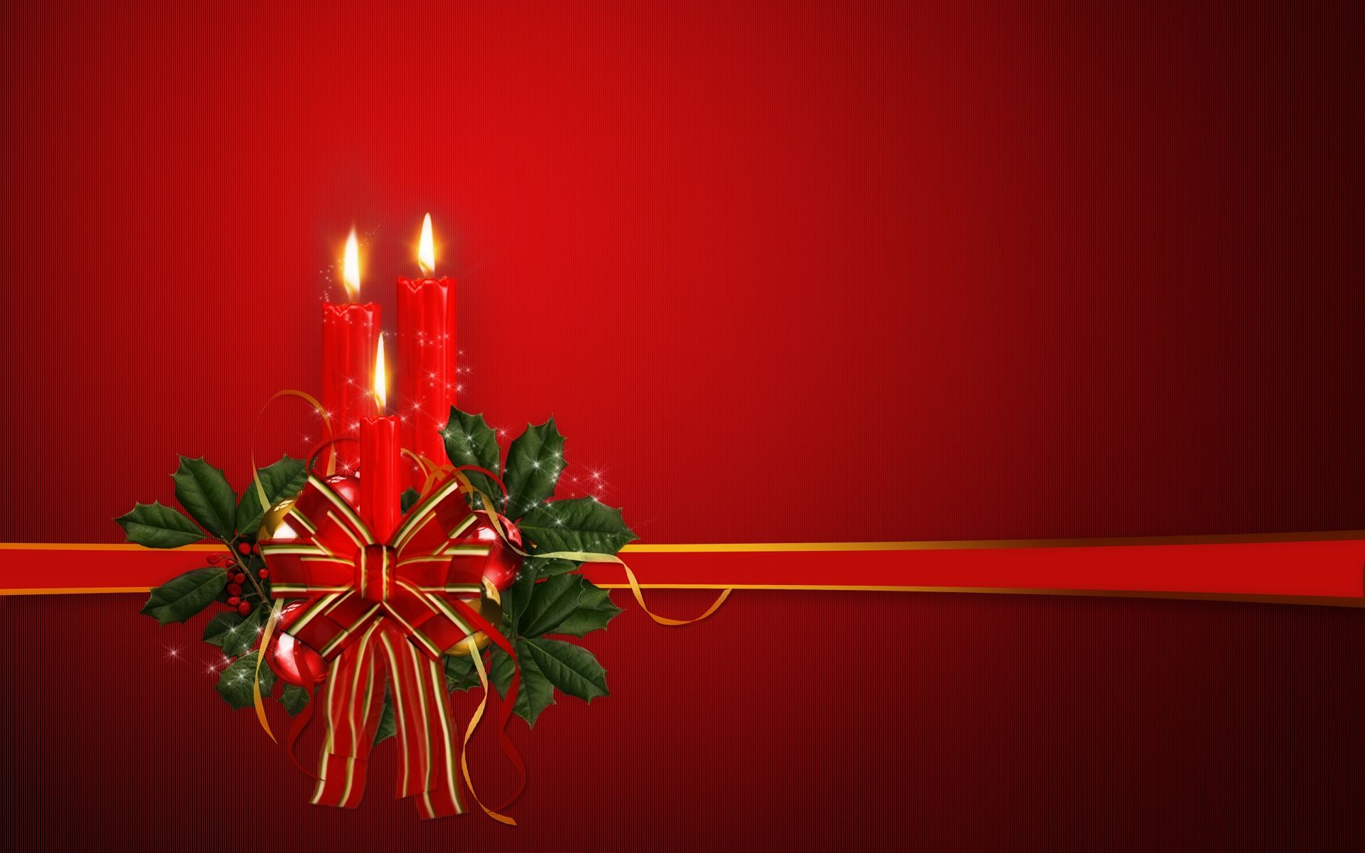 Christmas   Candles Wallpaper   Christian Wallpapers and Backgrounds 1920x1200