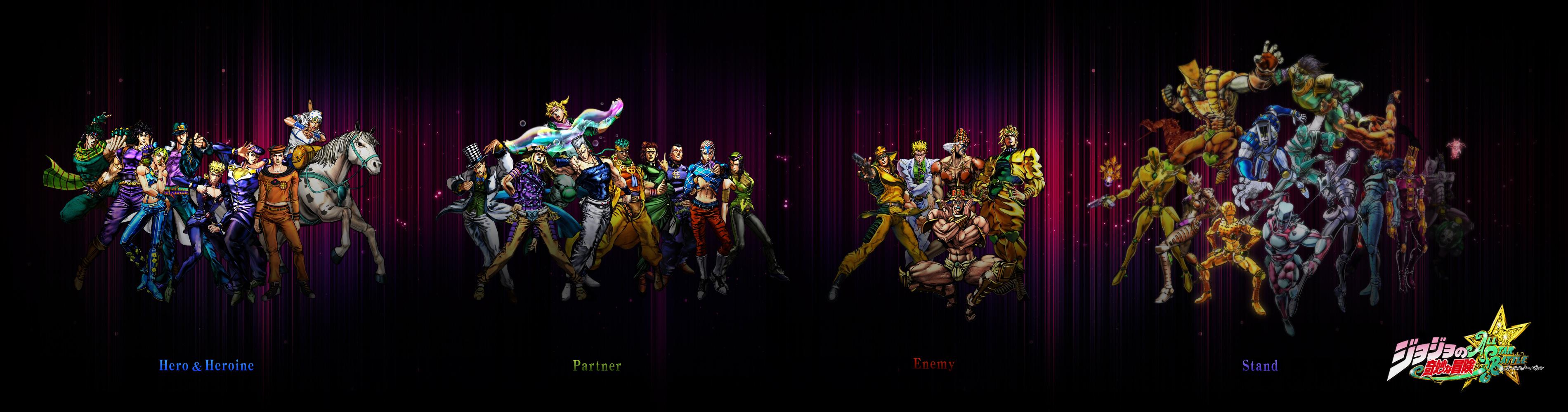 Jojos Bizarre Adventure Computer Wallpapers Desktop Backgrounds 3800x1000