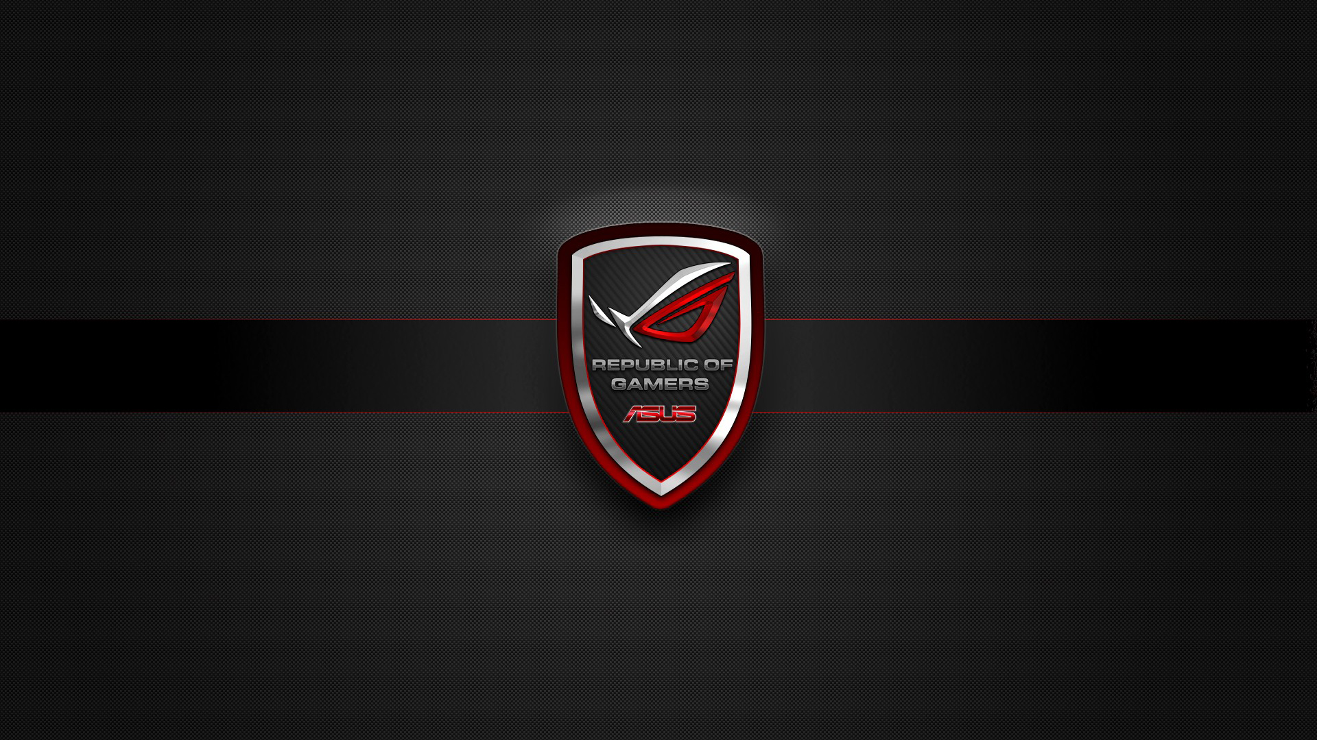 asus rog republic of gamers badge logo hd 1920x1080 1080p wallpaper 1920x1080