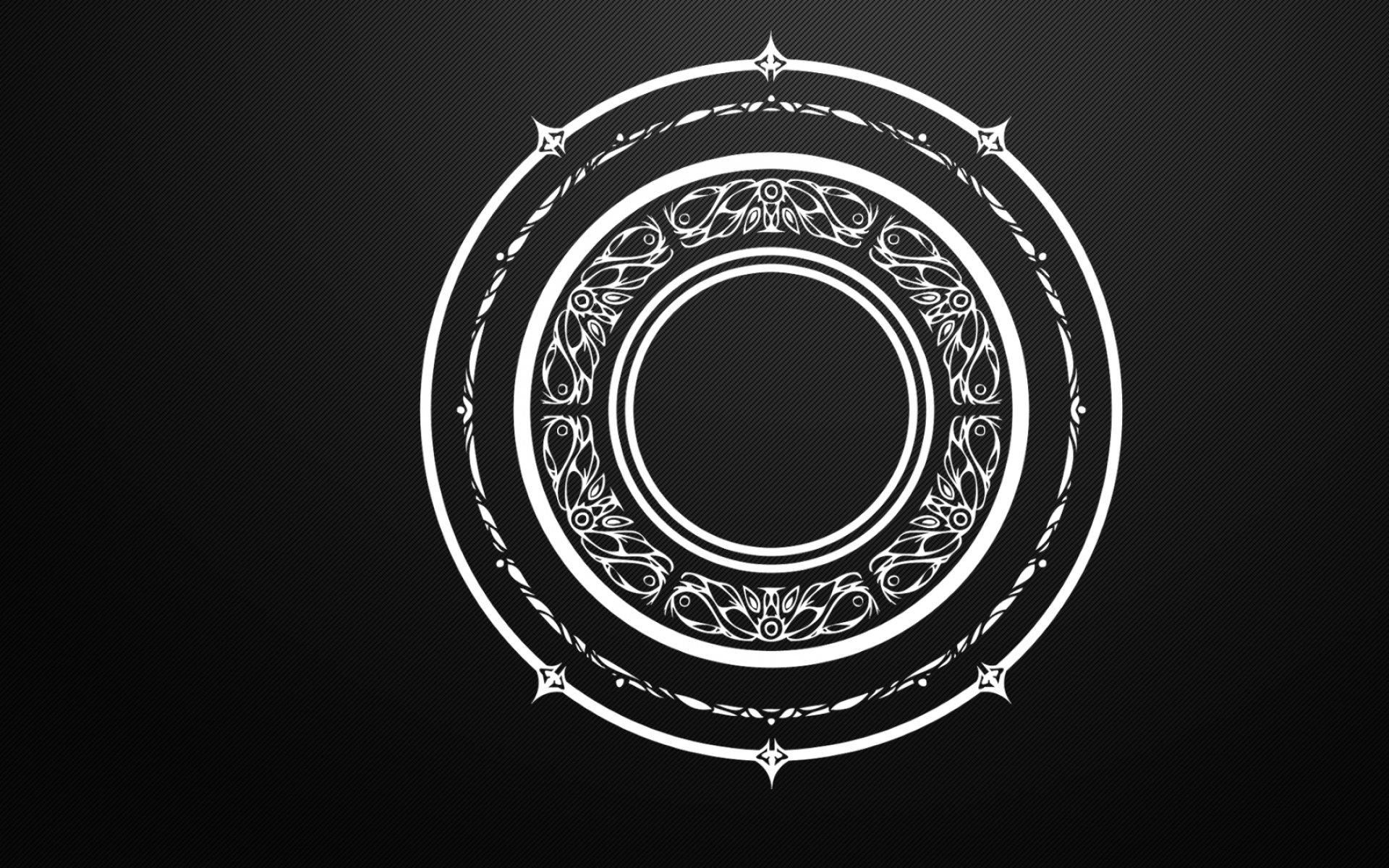 black and white circles magic arcane mandala tera online magic circles 1920x1200