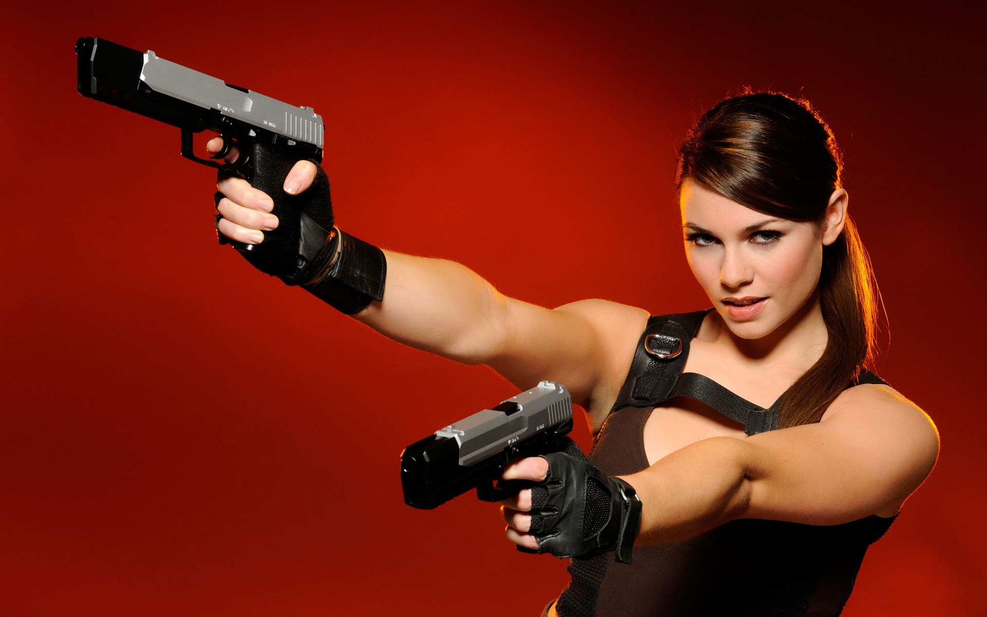 Carroll with guns wallpapers Alison Carroll with guns stock photos 1920x1200