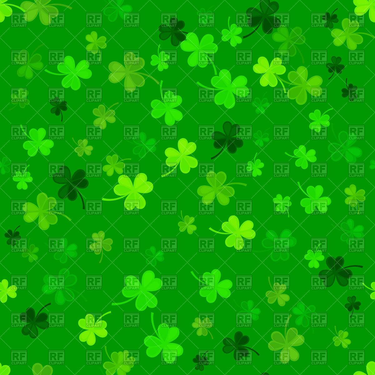 St Patricks Day clover seamless pattern on a green 1200x1200
