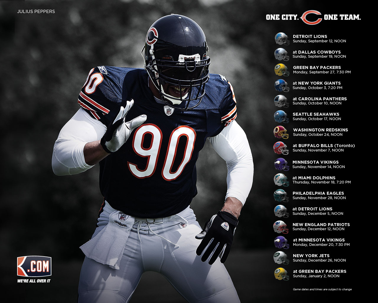 Chicago Bears wallpaper HD wallpaper Chicago Bears wallpapers 1280x1024