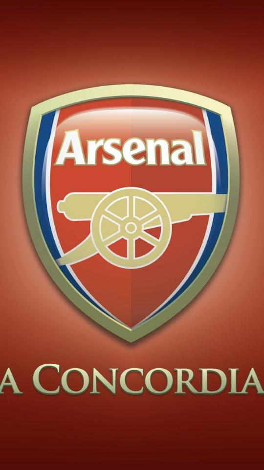 Download Wallpaper 540x960 Logo Arsenal Football club England 540x960