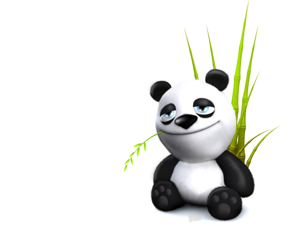 Funny cartoon panda wallpaper Funny Animal 1024x768