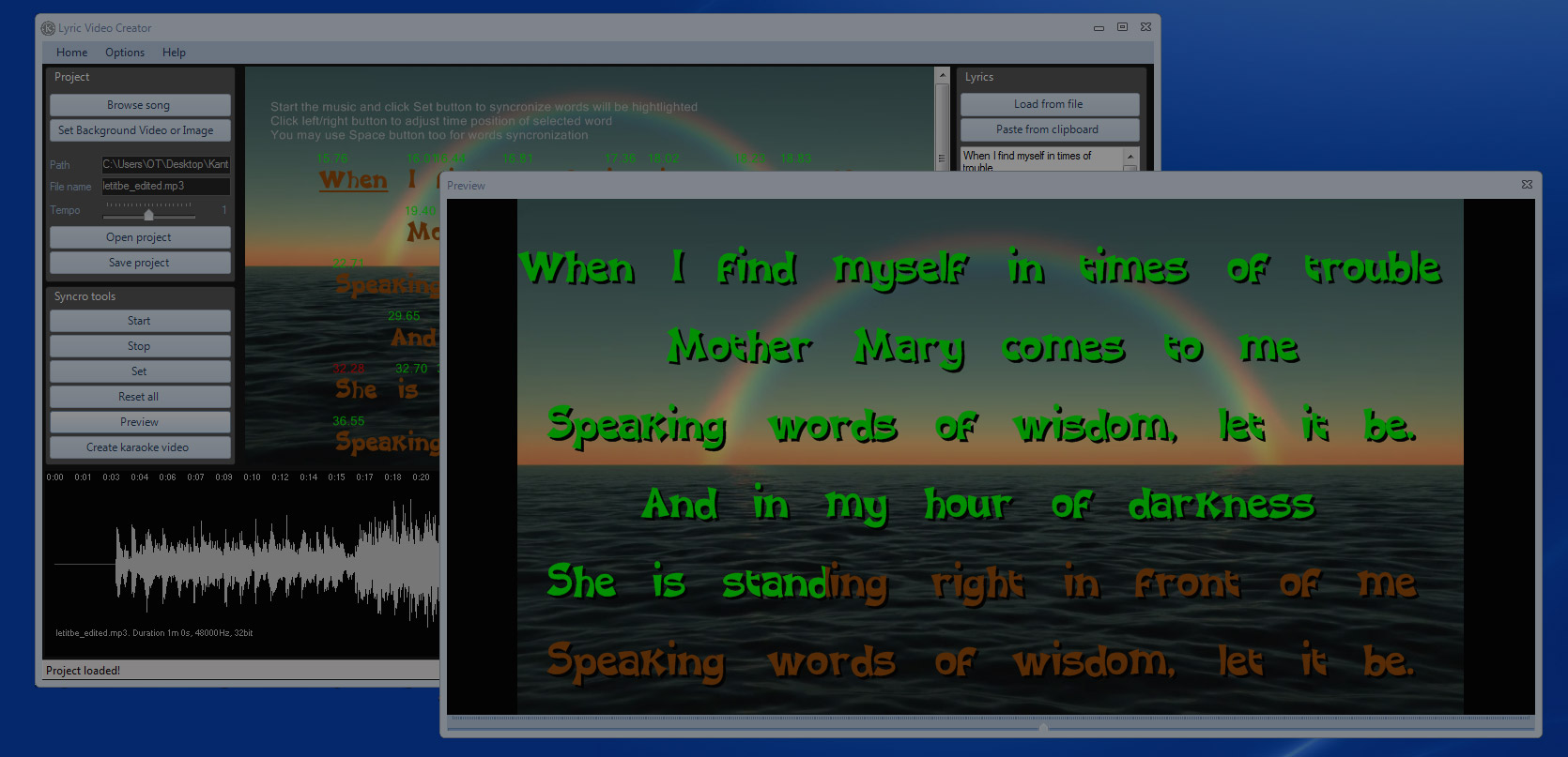 Lyric Video Creator The Best Lyric Video Maker 1670x807