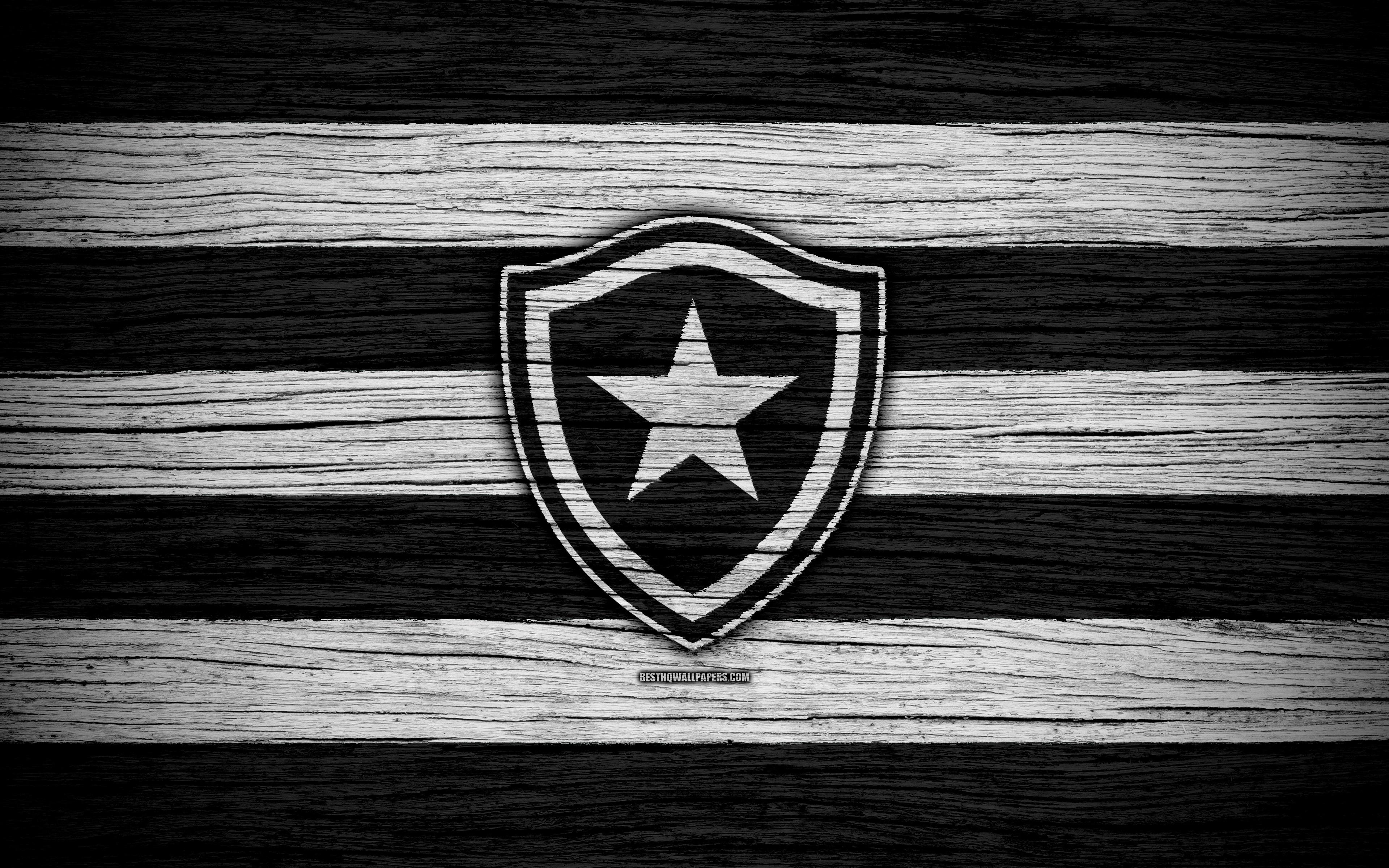 Download wallpapers Botafogo 4k Brazilian Seria A logo Brazil 3840x2400