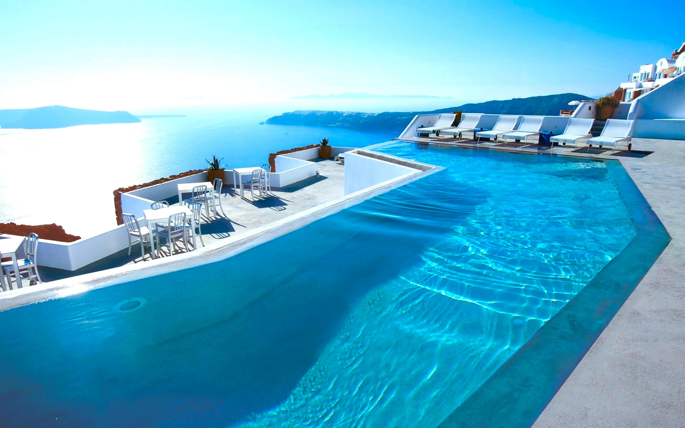 74 Santorini HD Wallpapers Background Images 2880x1800