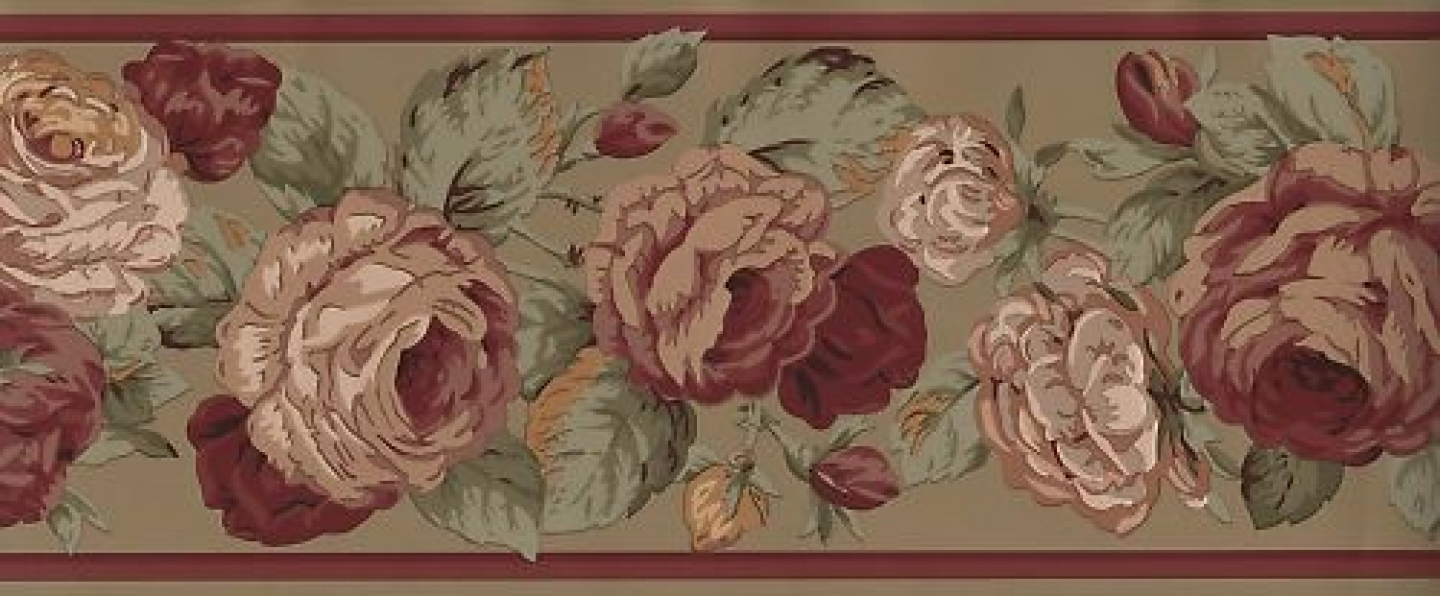 Free Download Ralph Lauren Victorian Rose Wallpaper Border Ebay