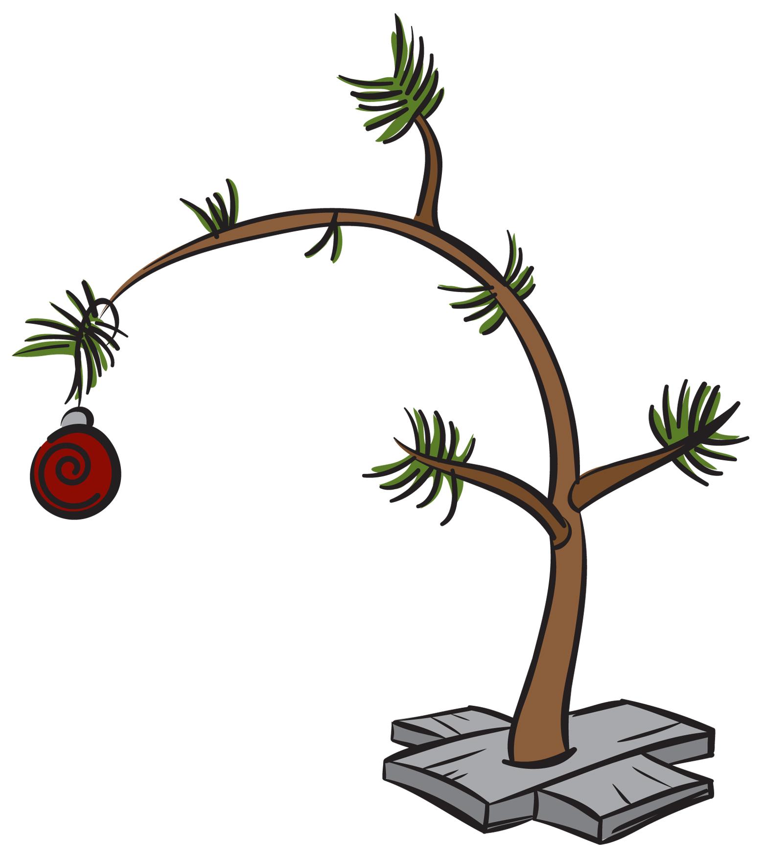 Free Download Clip Art Charlie Brown Christmas Tree Tree Onlyjpg