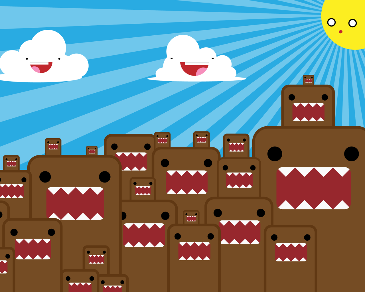 Cute Domo Wallpapers 1280x1024