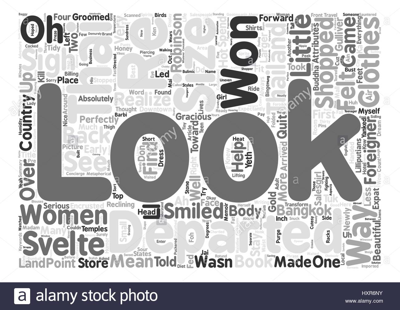 The Svelte Thai Women And The Won Sigh Foreigner Word Cloud 1300x1008