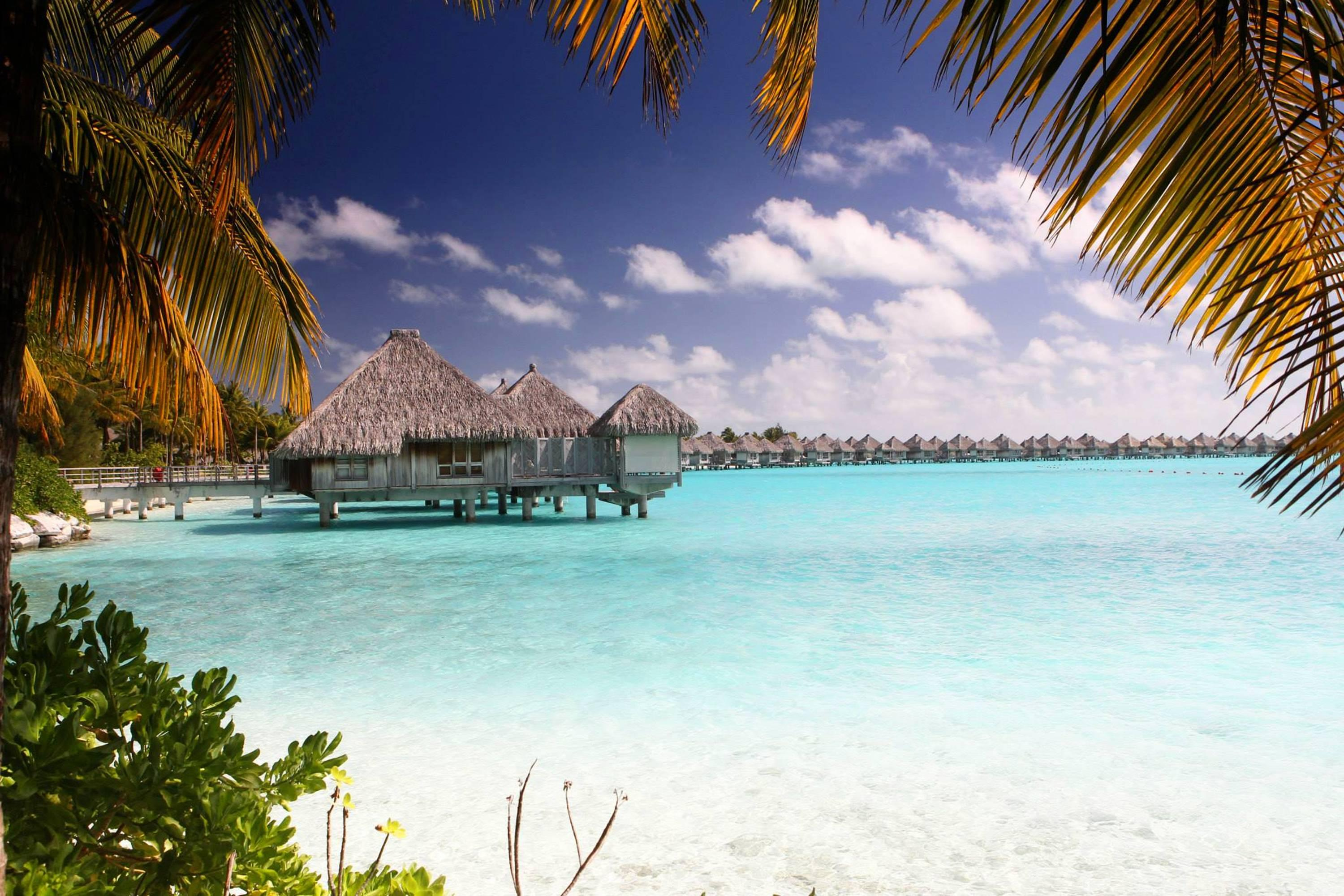 Bora Bora Clear Blue Lagoon Hd Wallpaper Wallpaper List 3000x2001