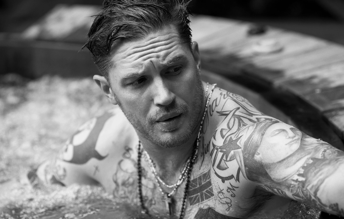 Wallpaper look pool tattoo male Tom Hardy Tom Hardy images 1332x850