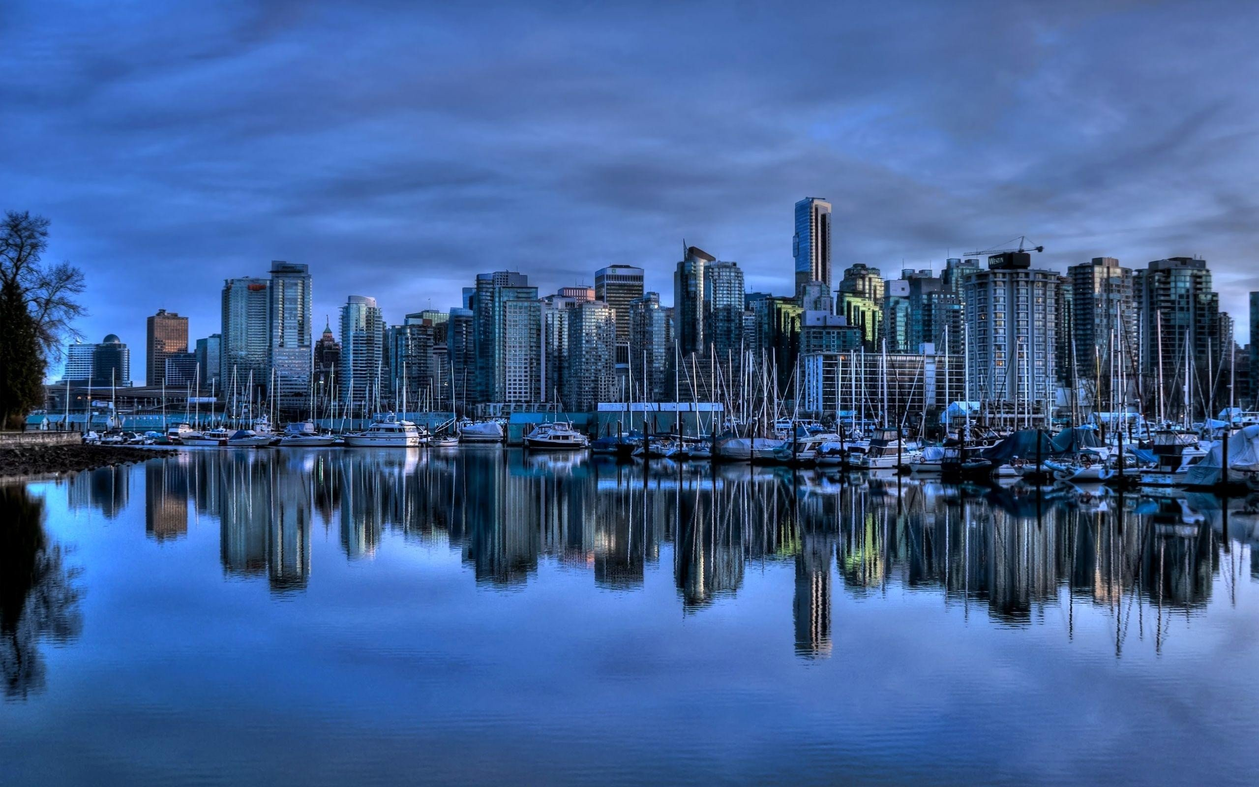 Vancouver towns skyscrapers city skyline wallpaper background 2560x1600