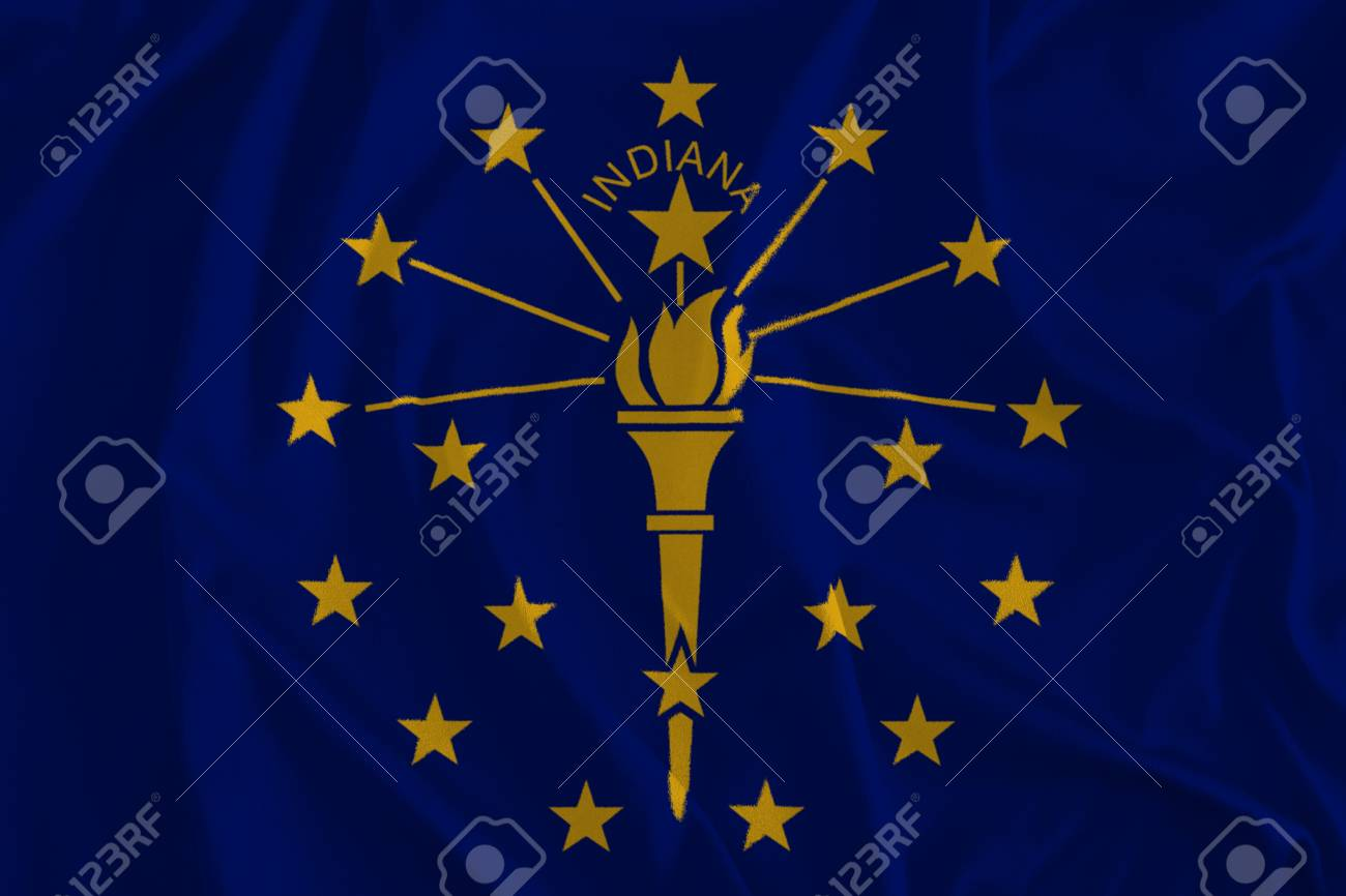 Flag Of Indiana Background The Hoosier State Stock Photo Picture 1300x866