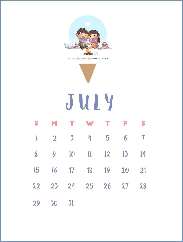 Cute July 2018 Calendar Wallpapers Calendar 2018 in 2019 1079x1429