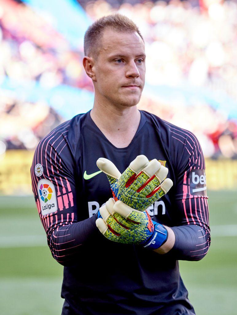 Ter Stegen of FC Barcelona puts on his gloves before the La Liga 772x1024