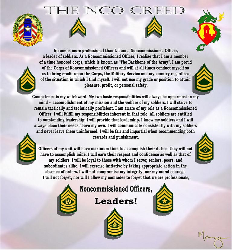 Nco Creed Poster Army Nco Images Crazy Gallery 768x827