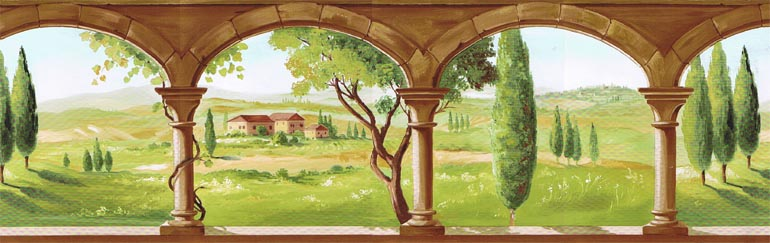 Details about TUSCANA LANDSCAPE COUNTRY VIEW Wallpaper Border TK78261 770x243