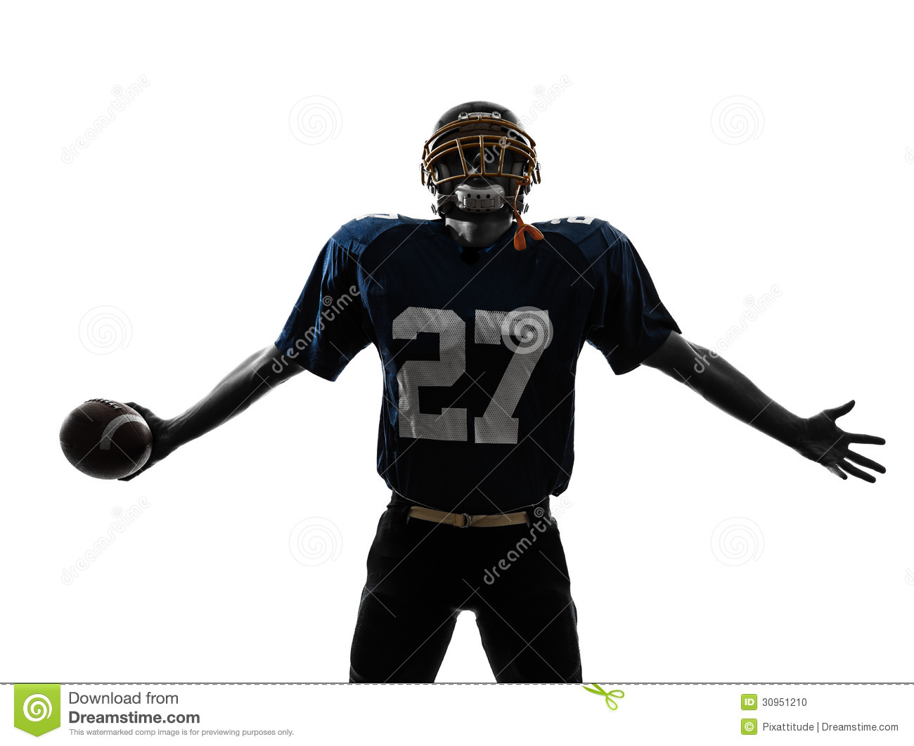 nfl football player triumphant american football player man silhouette 1300x1062