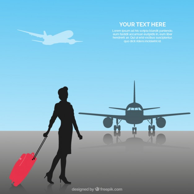 Flight Attendant Background Vector 123Freevectors 626x626