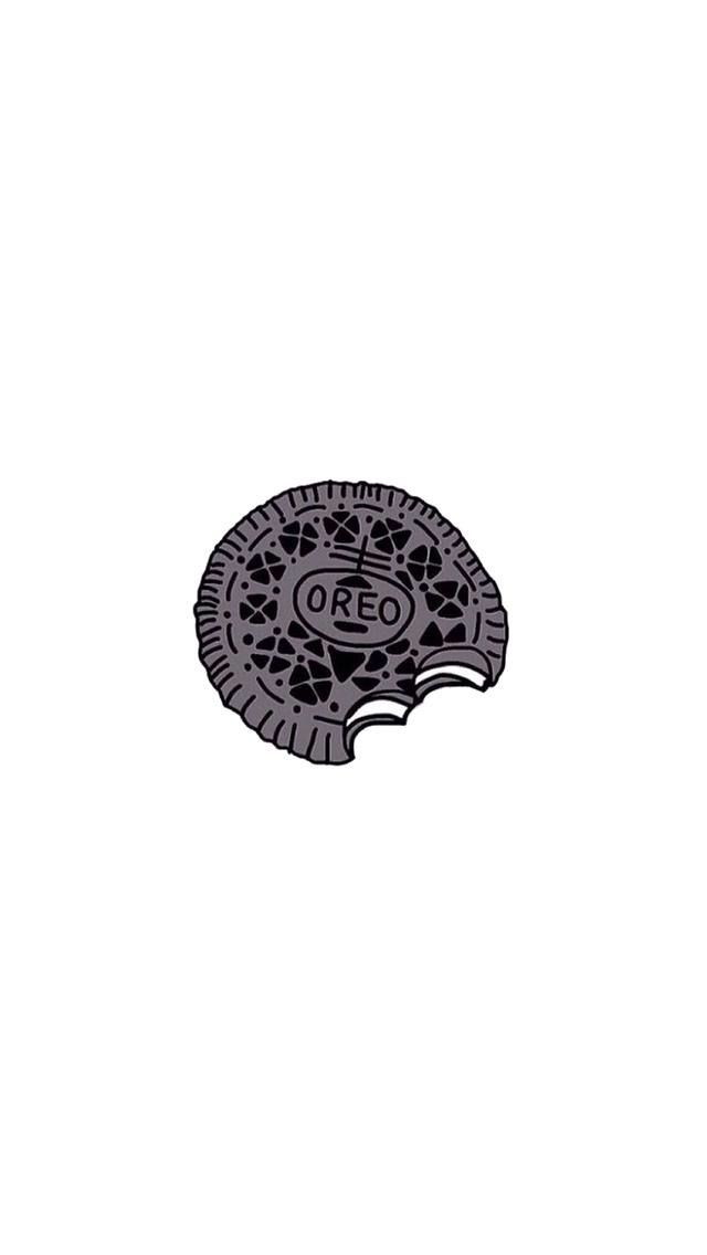 Bitten Oreo Cool Phone Wallpapers Wallpaper backgrounds 640x1136