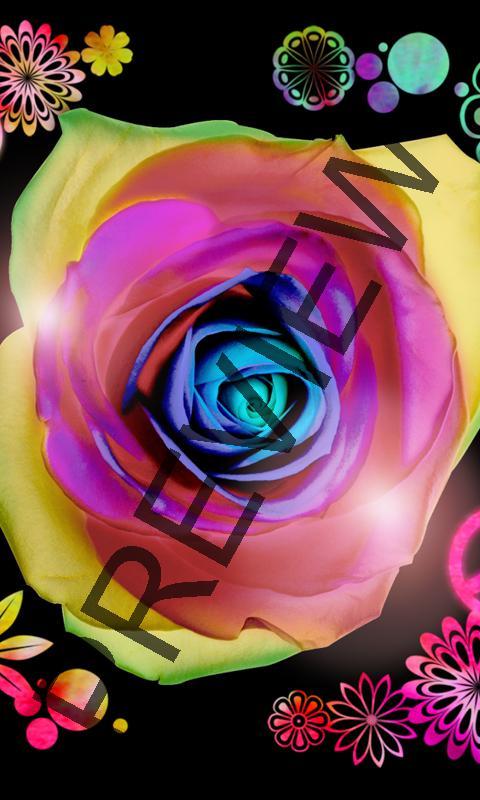 Cute neon zen flower wallpaper   screenshot 480x800