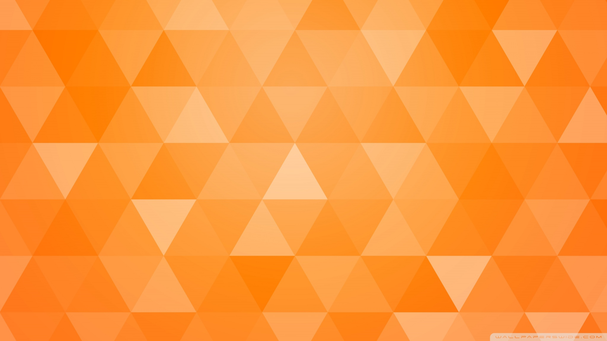 Orange Abstract Geometric Triangle Background Ultra HD Desktop 2048x1152