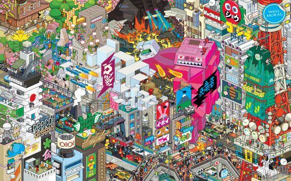 Milton King EBoy EBoy Tokyo WRM061E L Select Wallpaper 600x374