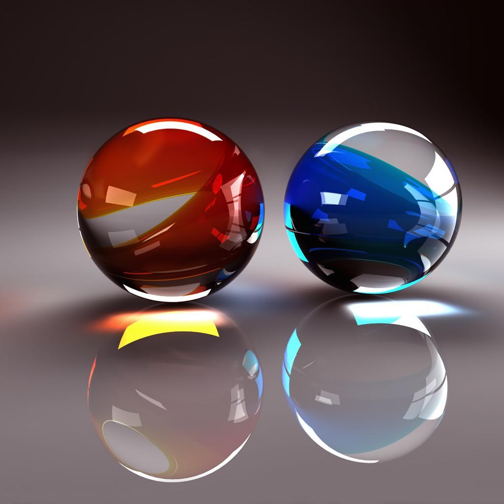Cool 3d Crystal Glass Ball Ipad Wallpapers 1024x1024 Hd Wallpaper 1024x1024