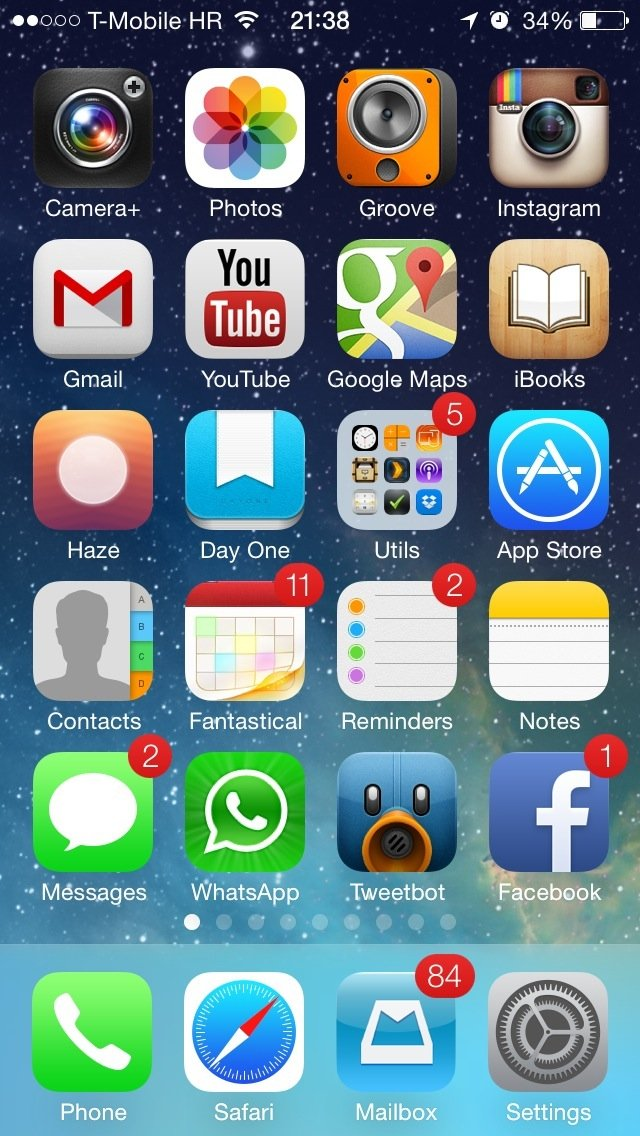 iOS 7 Wallpapers Still Space background on Home screen 001 640x1136