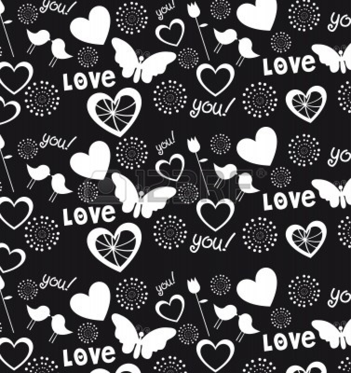 Free Download Hearts Love And Hearts Background Black And