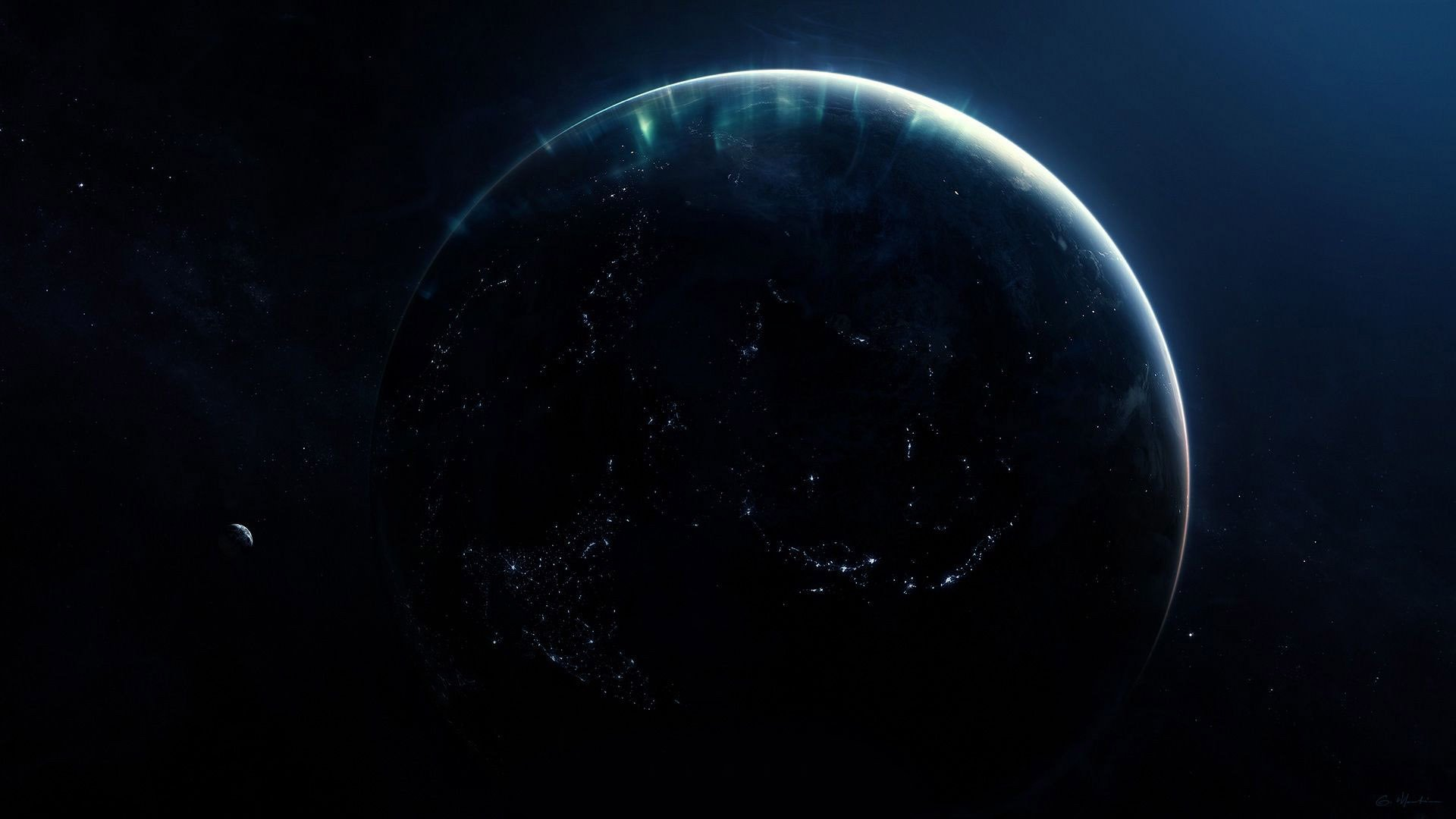 Planet Earth at night Wallpaper 3512 1920x1080