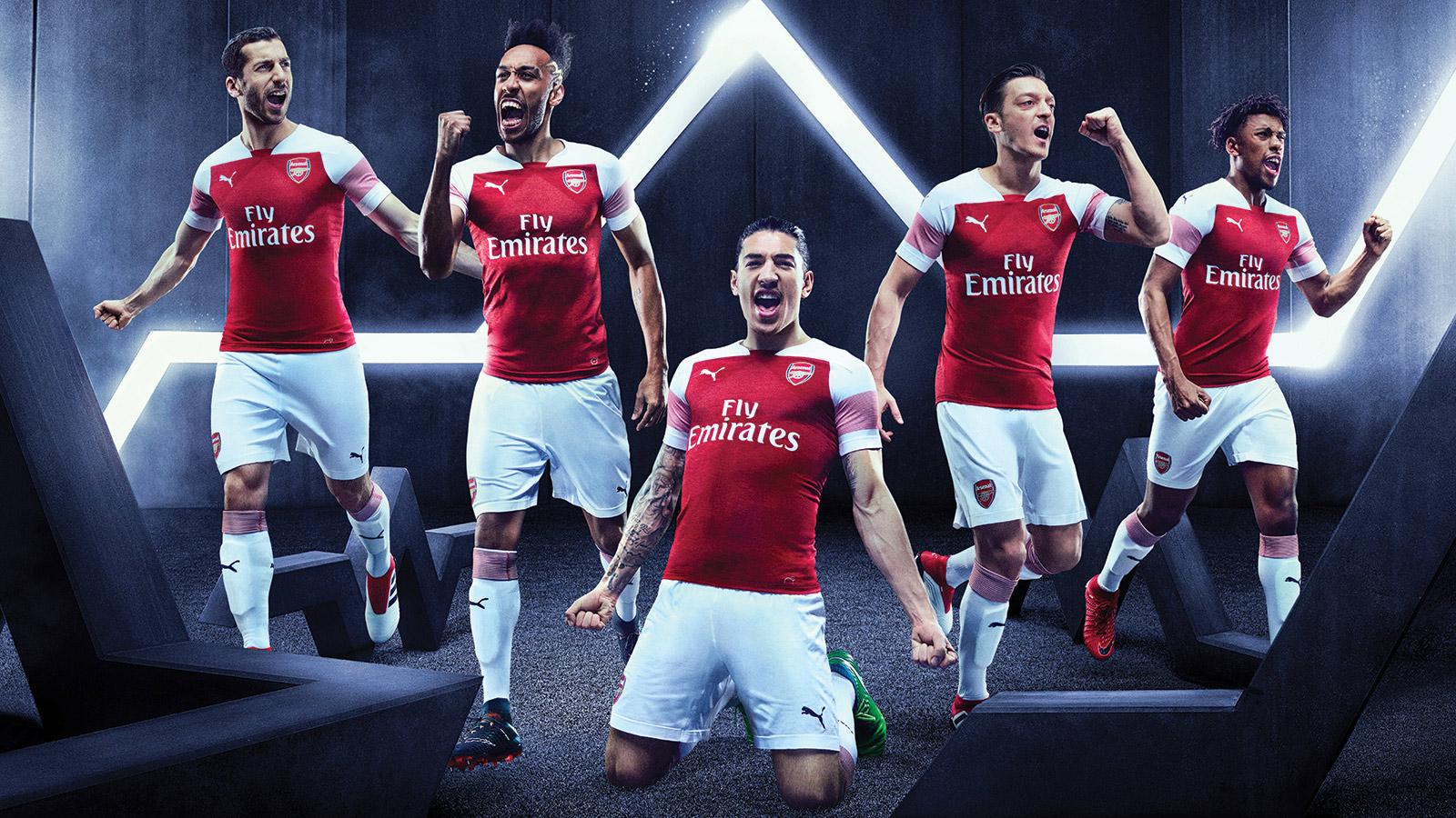 Arsenal and PUMA unveil 201819 home kit PUMA kit 201819 News 1600x900