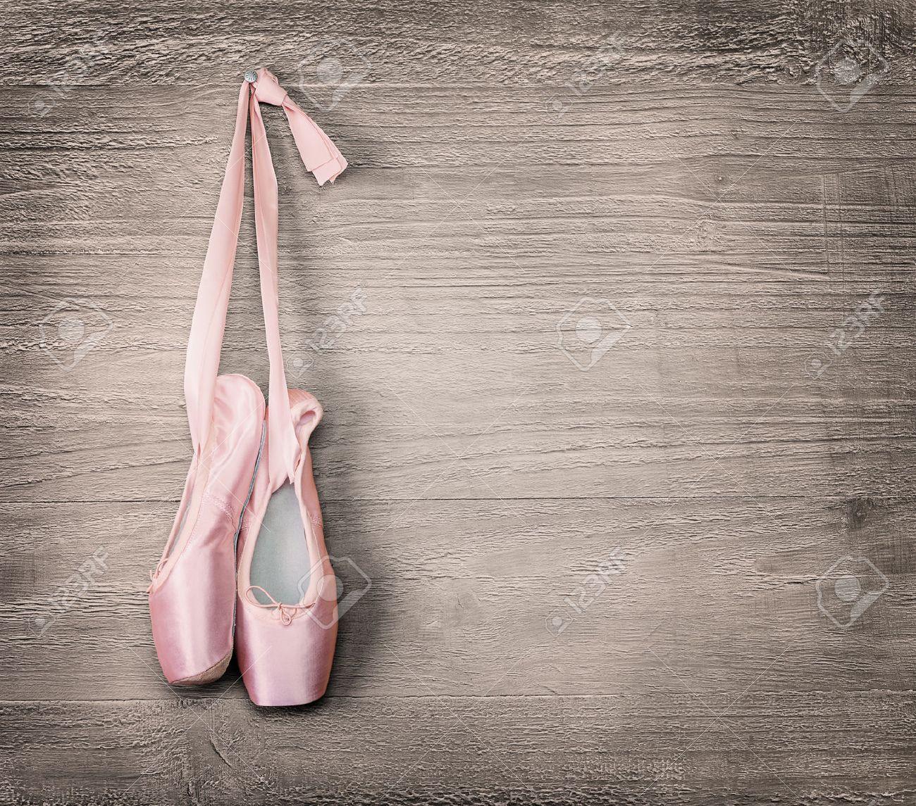 Free Download New Pink Ballet Shoes Hanging On Wooden Background Vintage Style 1300x1145 For Your Desktop Mobile Tablet Explore 41 Shoe Background Shoe Wallpaper Shoe Background Jordan Shoe Wallpaper