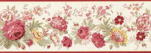 Flower Wallpaper Border 5507100B   Wallpaper Border Wallpaper inc 525x186