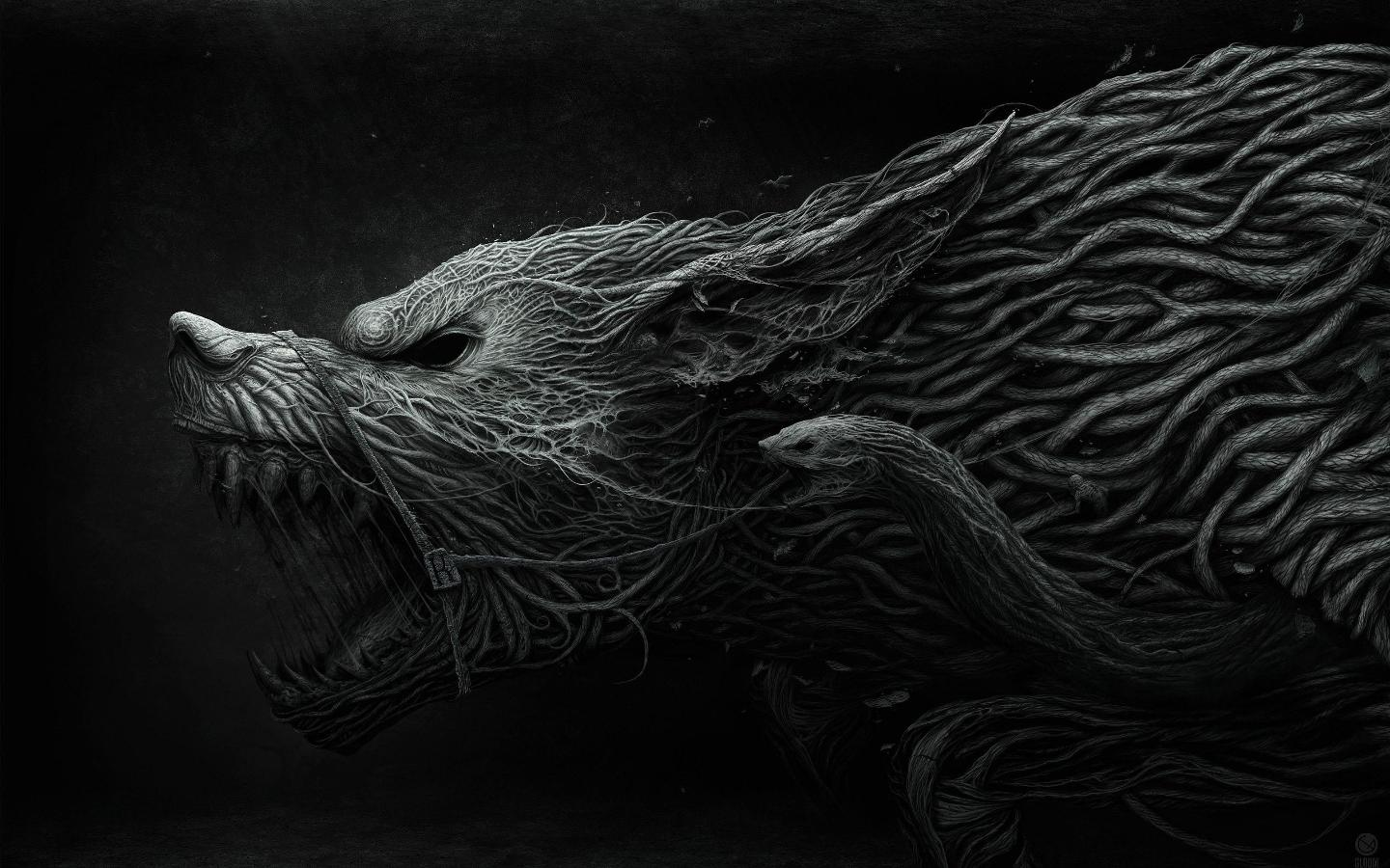 Awesome Wolf Beast Wallpaper Artist unknown pics 1440x900