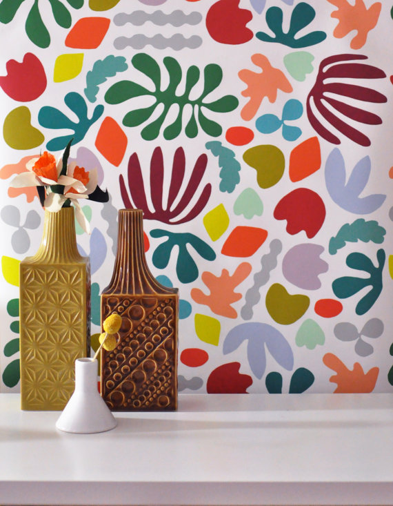 Removable Wallpaper Matisse is my muse Adheres to walls and 570x733