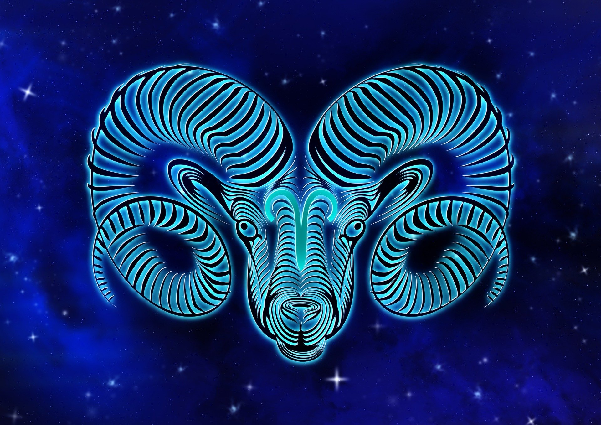 Blue Aries Ram Zodiac HD Wallpaper Background Image 1920x1357 1920x1357